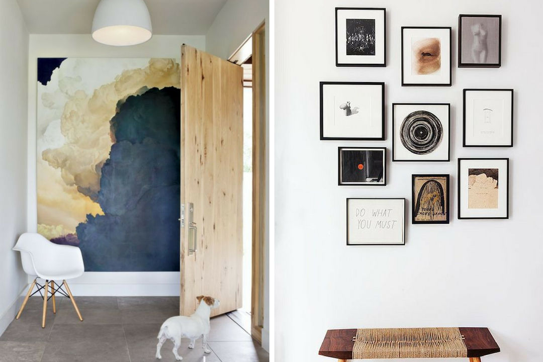 home gallery-wall entry large art