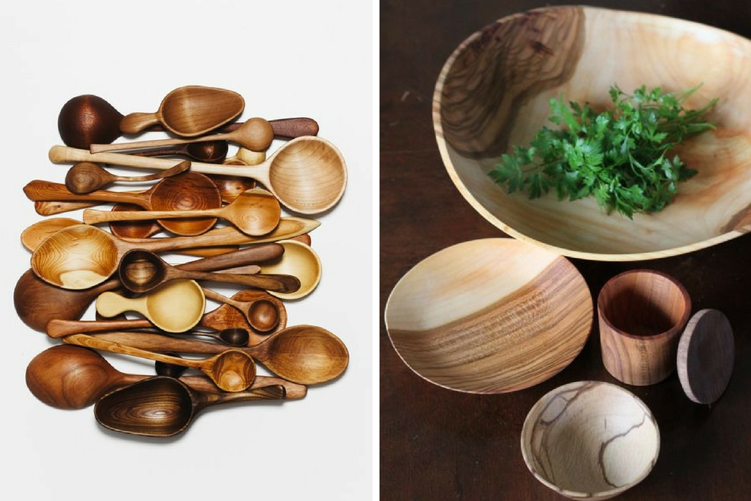 wood spoons bowls collection